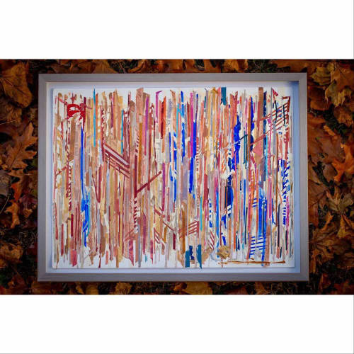 Paintings by Rae Heller seen at Private Residence, Boston - Tape Painting Series