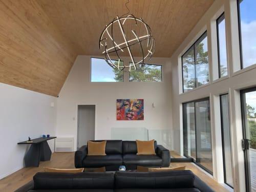 Pendants by James Russ seen at James Russ Studio, Auckland - Atomic Pendant