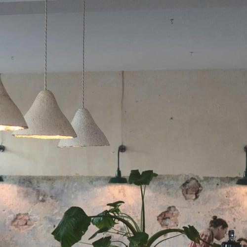 Pendants by Tŷ Syml seen at FREA, Berlin - Mycelium pendants