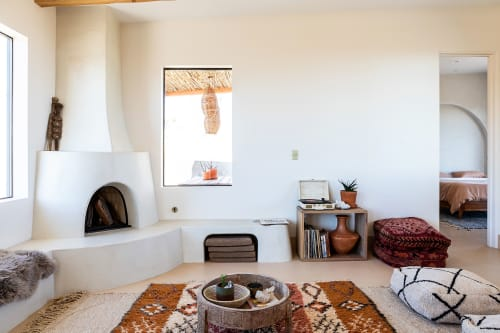 Rugs by Natalie Saunders - Desert Wild Decor seen at Desert Wild Joshua Tree, Joshua Tree - Moroccan Rugs and Poufs