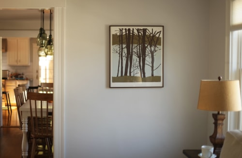 Paintings by Abraham Storer seen at Private Residence, Boston - Woodcut Print