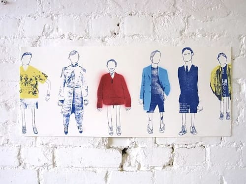 Paintings by Adam Hemuss seen at Private Residence, London - Six Boys