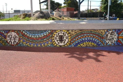 Tiles by Aileen Barr seen at Cesar Chavez Park, Oakland, Oakland - Cesar Chavez