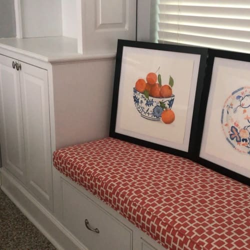 Paintings by Catherine White Art seen at Private Residence, Vero Beach - Watercolor Paintings