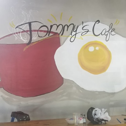 Murals by K.PAC seen at Tommy's Cafe, Port Orange - Tommy's Cafe Mural