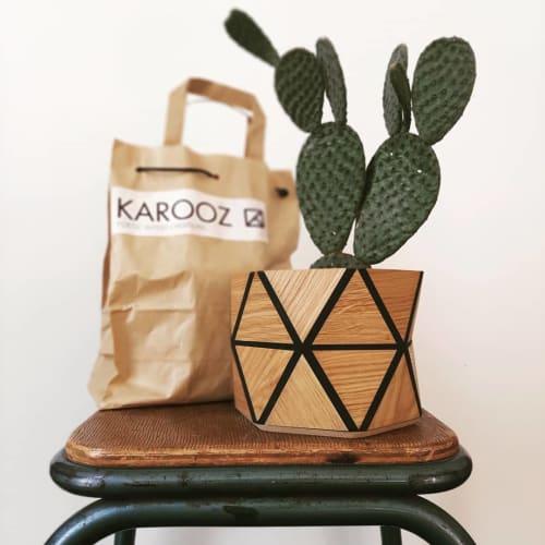 Vases & Vessels by Karooz seen at Judith de Graaff's Home, Nogent-sur-Oise - Geometric Flower Pot