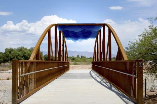 Public Sculptures by Creative Machines seen at Pantano Wash Path, Tucson - Color Wash