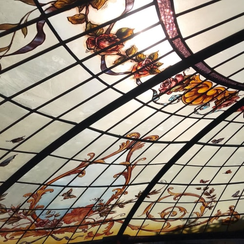 """""""Sunlit dome"""" stained glass art 