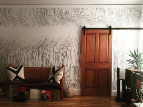 Murals by Marta Elise Johansen seen at Private Residence, San Francisco - Lines Mural