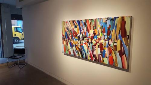 Paintings by John Platt seen at Private Office in North Beach, San Francisco, San Francisco - Sun God