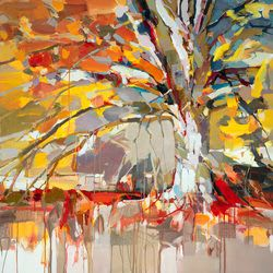 "Art & Wall Decor by YJ Contemporary seen at East Greenwich, East Greenwich - Josef Kote ""Golden Tree"""
