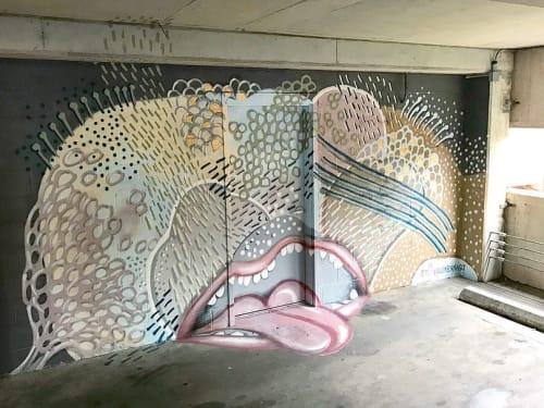Murals by Tess Erlenborn seen at Cafe Coco, Nashville - Interior Mural