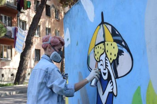 Masholand x Caritas   Street Murals by Masholand
