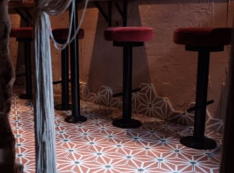 Tiles by Otto Tiles And Design at Kudu Restaurant, London - Sexy Pink