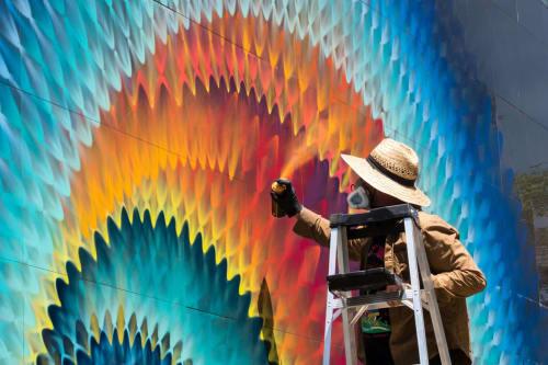 Street Murals by HOXXOH seen at Miami, Miami - Vortex