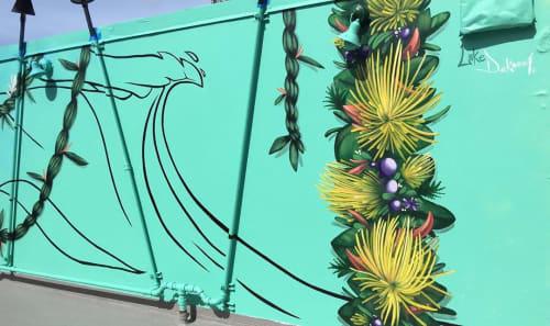 Murals by Luke DeKneef seen at Dave & Buster's, Honolulu - Sunset Bar Mural