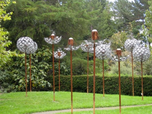Sculptures by Jane Downes seen at Private Residence - Stop the Clock