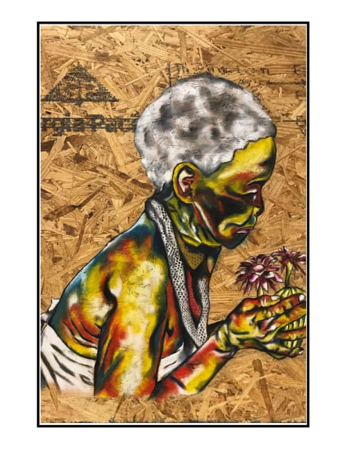 Paintings by Afrocentric Keyy seen at New York, New York - Her Elder