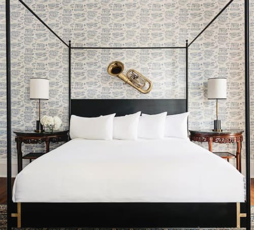 Beds & Accessories by Doorman Designs seen at Henry Howard Hotel, New Orleans - Josephine Bed