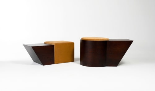 Chairs by Jason Mizrahi seen at Los Angeles, Los Angeles - Bonnie and Clyde stools