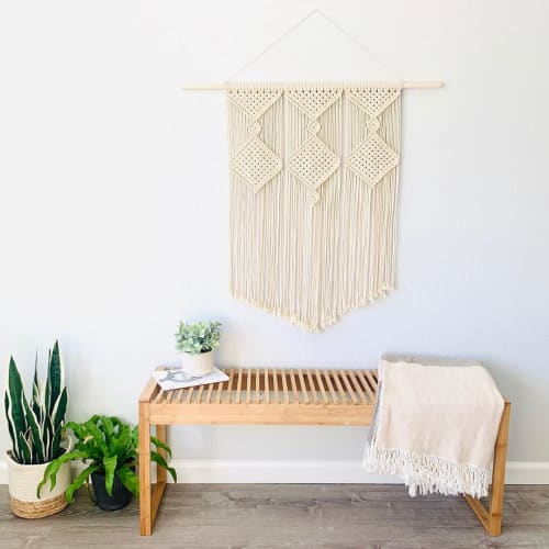 Macrame Wall Hanging by Love & Fiber seen at Private Residence, San Diego - Bohemian Macrame