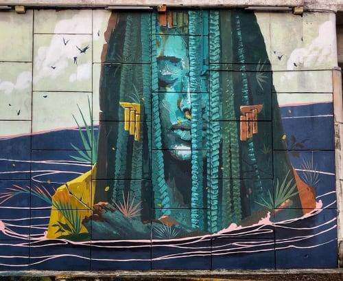 Murals by Primal Graphic seen at Akumal, Akumal - Akumal Beach Mural