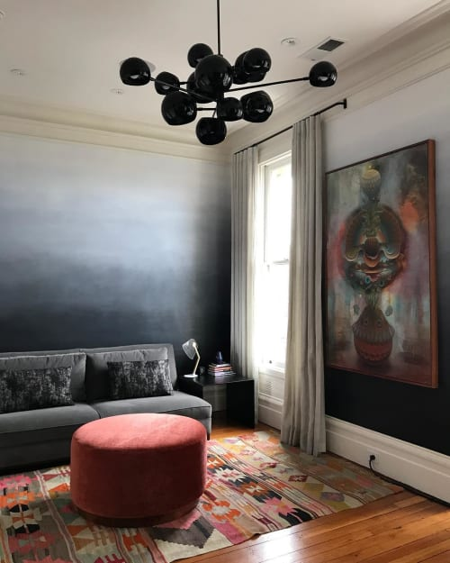 Murals by Caroline Lizarraga seen at Private Residence, San Francisco - Ombre Wall Treatment