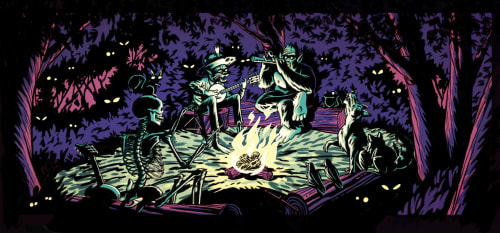 The Draculas - Murals and Art