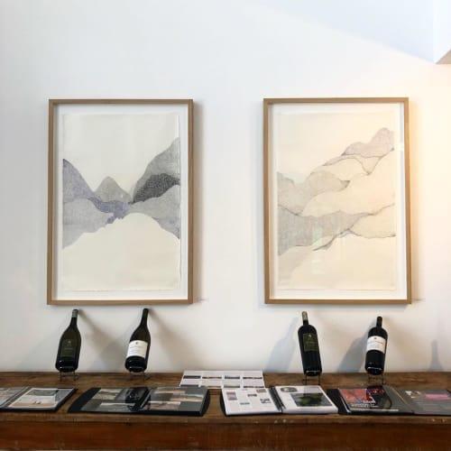 Paintings by Sabatina Leccia seen at Orenga de Gaffory, Patrimonio - Risography Printings