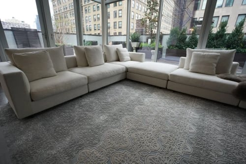 Rugs by Lucy Tupu Studio seen at Private Residence, New York - Tribeca Penthouse-Living Room