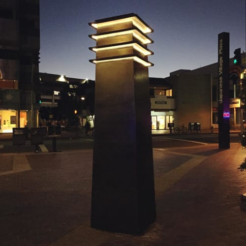 Lighting by Studio Endo seen at Japanese Village Plaza, Los Angeles - Sei Fujii Lantern