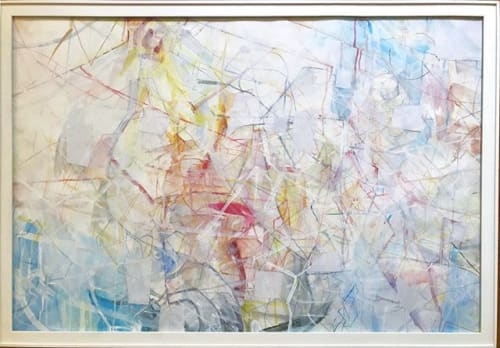 Paintings by Deborah Chi seen at Private Residence, Los Angeles - framed abstract drawing & painting