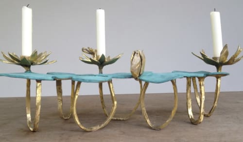 Sculptures by PAULA SWINNEN seen at Private Residence, London - Bougeoir / Candle holder