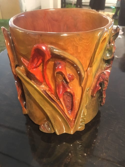 Sculptures by Jason Ballard Designs seen at Private Residence, Grafton - Carved Maple Bowl With Color