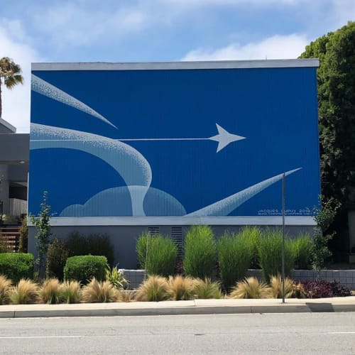 Murals by Levi Ponce seen at Aviation Townhomes, Redondo Beach - Aviation Townhomes Mural
