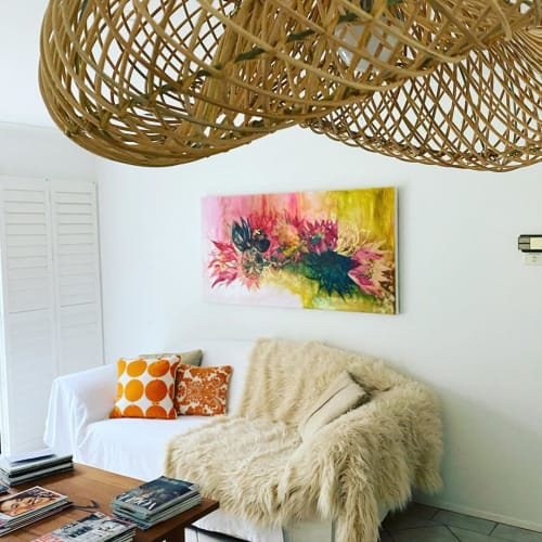 Paintings by Kerry Bruce seen at Private Residence, Kiama - Commissioned Floral Art