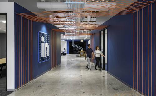 Wall Treatments by ANTLRE - Hannah Sitzer seen at LinkedIn Global Headquarters, Sunnyvale - Linkedin HQ