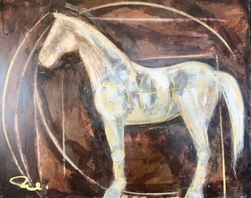 "Paintings by Monterroso Studio seen at Private Residence, West University Place - ""Warily Steve"""
