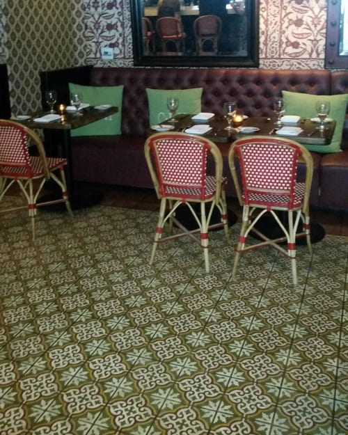 Tiles by Avente Tile seen at Colony Palms Hotel, Palm Springs - Encaustic Cement Tiles