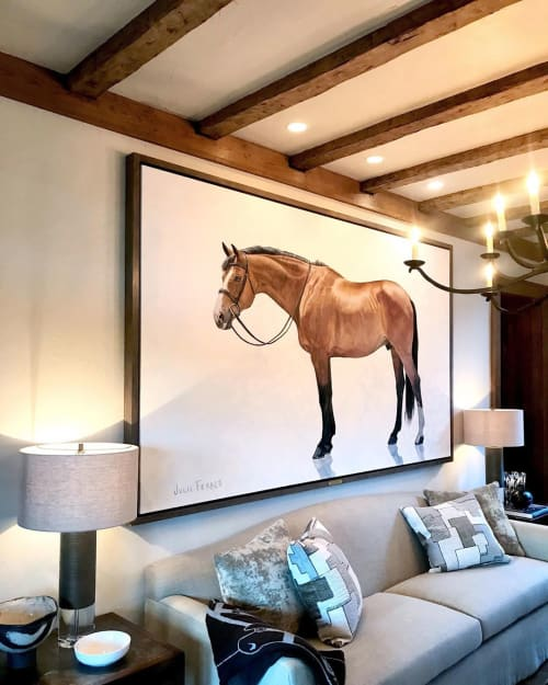 """Paintings by Julie Ferris seen at Private Residence, Blowing Rock - """"Tasty's Portrait"""" Painting"""