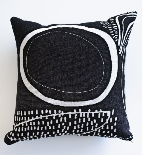 "Pillows by K'era Morgan seen at Private Residence, Los Angeles - ""Rain"" Throw Pillow"