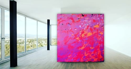 Paintings by Kurt Black Art seen at Private Residence, Berlin - Purple Leaves