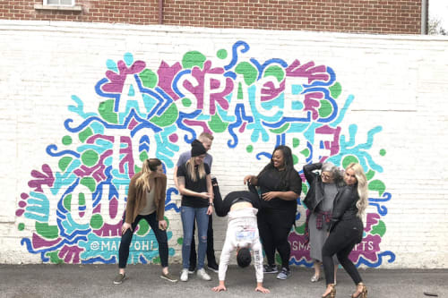 Street Murals by Mariel Pohlman seen at 1619 N Hall St, Dallas - A Space to be Yourself