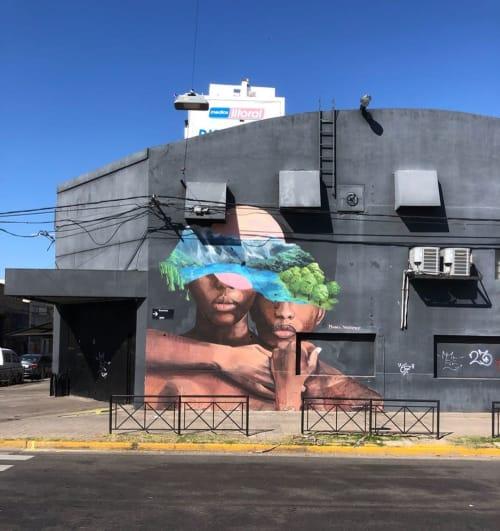 Murals by Mabel Vicentef seen at La Sala De Las Artes, Rosario - @mabelvicentef