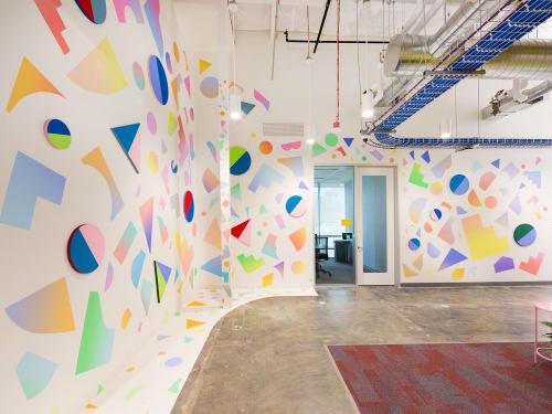 Murals by Mich Miller seen at San Francisco, CA, San Francisco - Fb AIR Installation