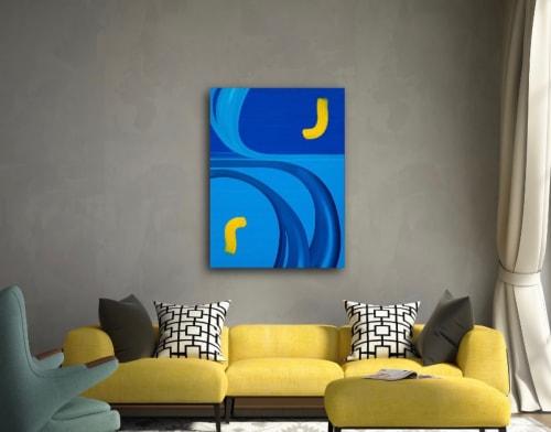 "Paintings by Chris Johnson seen at Creator's Studio, Nyack - ""Harmony"""