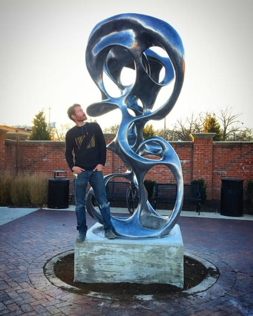 Public Sculptures by Jacob Burmood seen at Private Residence, Prairie Village - Fluid Form