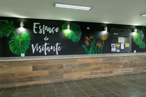 Murals by Laura Mazzela seen at Presbyterian Church in Alphaville, Alphaville - Tropical Mural