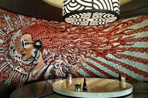 Murals by Justin Queal seen at Squid Ink Sushi Bar - CityScape, Phoenix - Siren