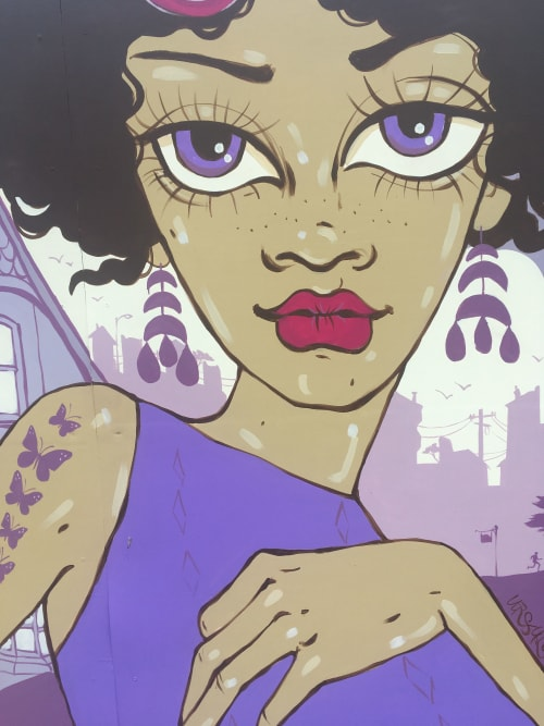 Murals by Ursula Xanthe Young seen at Alamo Square, San Francisco - Alamo Square mural